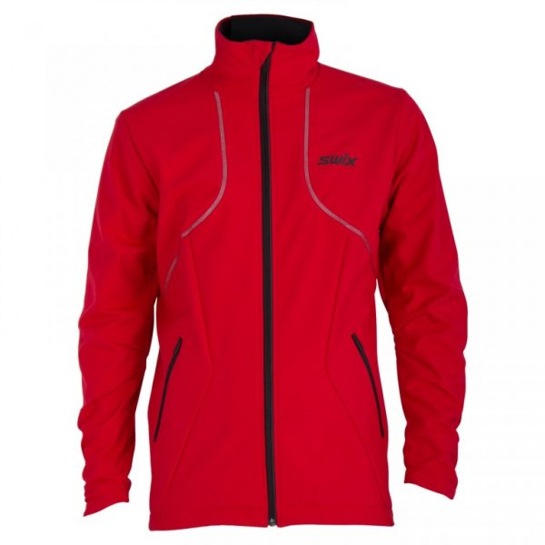 powder jacket red